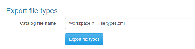 Export file types